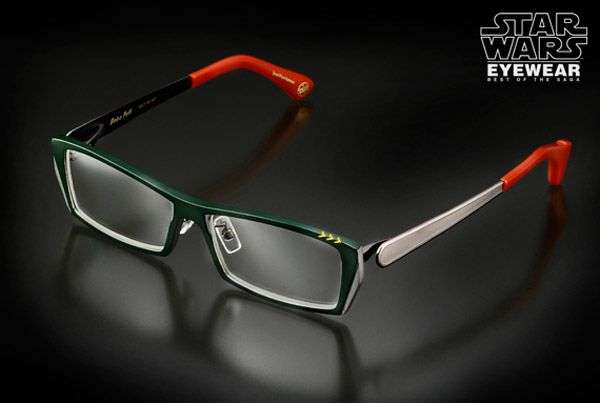Bobba Fett inspired eye glasses from Aigen found via geekosystem.com ~ $500 Yes I would wear these. Most def.