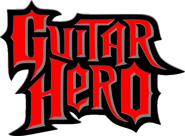 guitar hero logo svg and scut | hero logo, gaming and video games