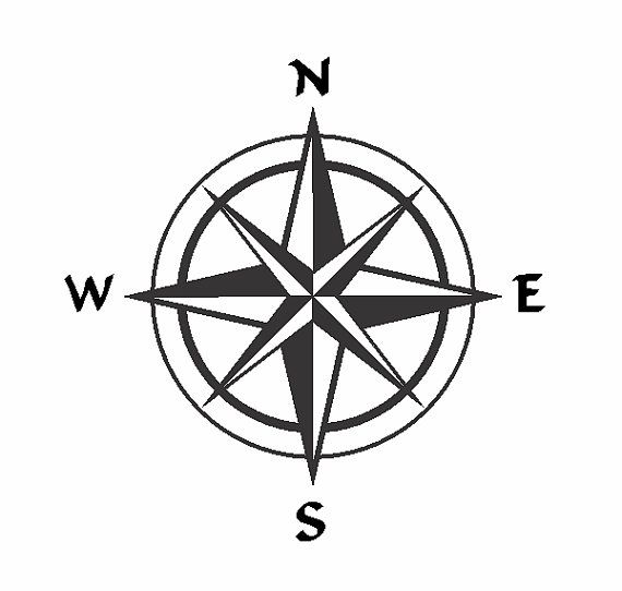 Compass Rose Single Layer Vector File Zipped File In 2020 Compass Drawing Compass Rose Compass