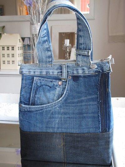 Handkraft & Återbruk | Jeansväska, Jeans diy, Återvinna jeans