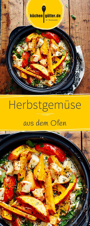 Herbstgemüse aus dem Ofen | Rezept | Ofengemüse, Feierabend und ...