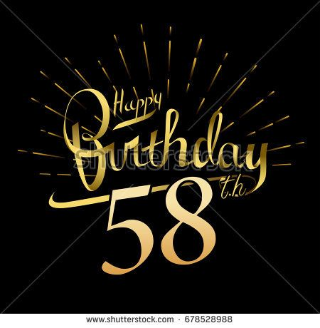 58th Happy Birthday Logo Beautiful Greeting Card Poster With