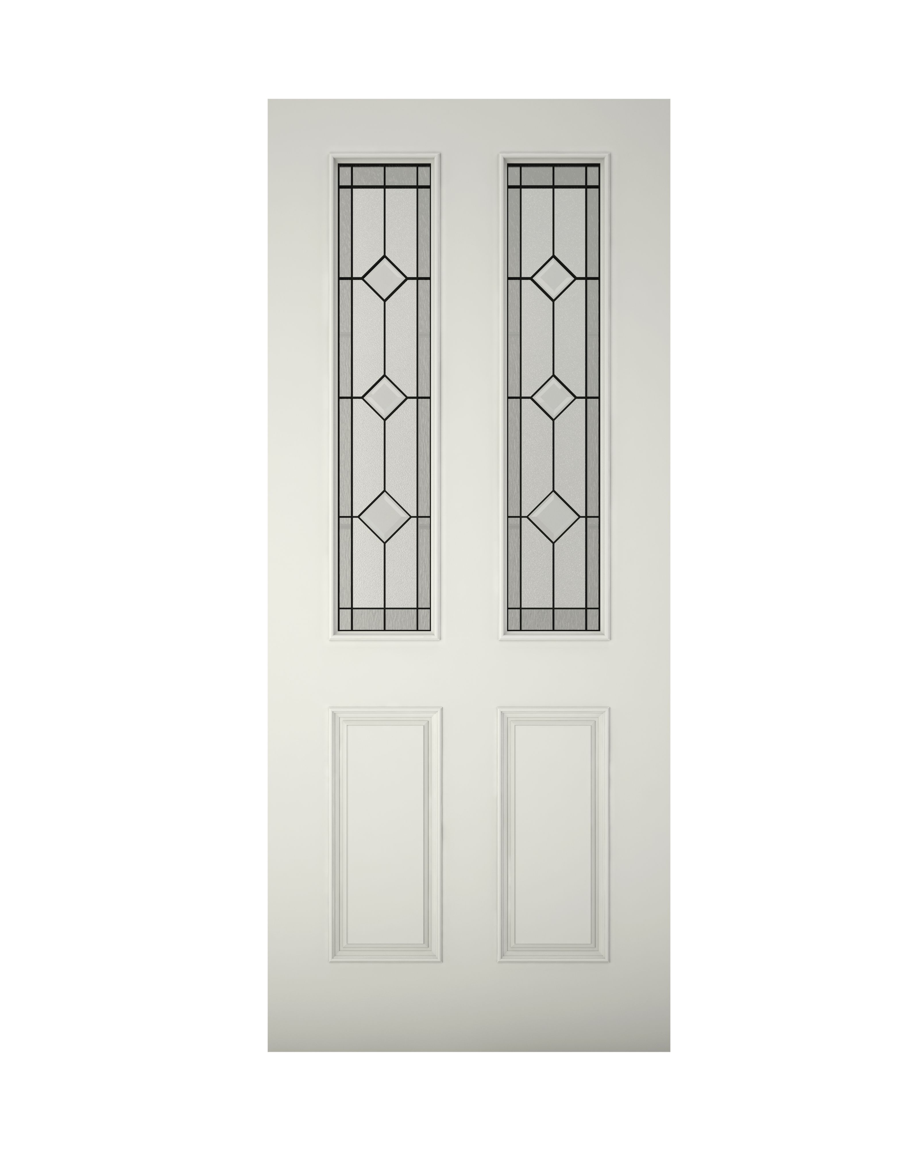 4 Panel Primed Glazed Front Door u0026 Frame with Letter Plate - Bu0026Q for all your home and garden supplies and advice on all the latest DIY trends  sc 1 st  Pinterest & Paintable - 4 Panel Primed Timber Glazed External Front Door (H ...