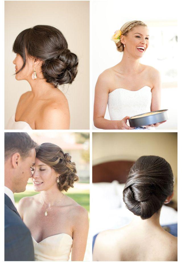 peinado novia boda moño bajo