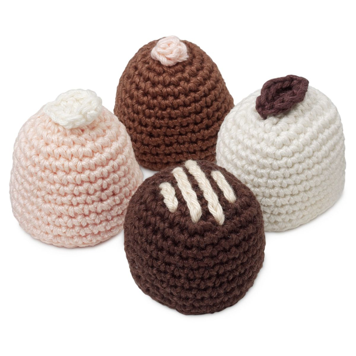 ASSORTED CHOCOLATES CROCHETED SACHETS | Potpourri, Drawer Liner, Clothes Freshener, For Her, Crochet Dessert, Vanilla, Chocolate | UncommonGoods