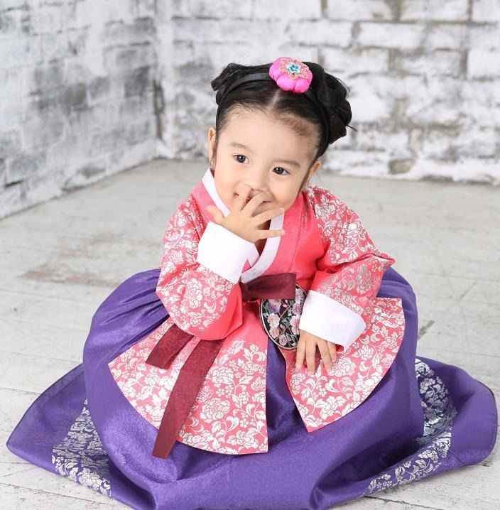Hanbok Girl 7026 Korean Traditional Dress Korea Baby 1st