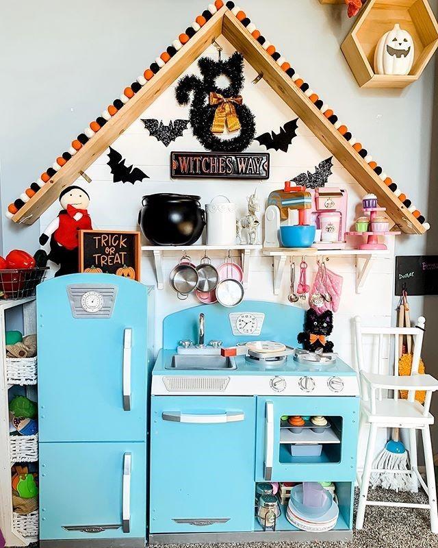 pink retro kitchen & refrigerator | kidkraft retro kitchen