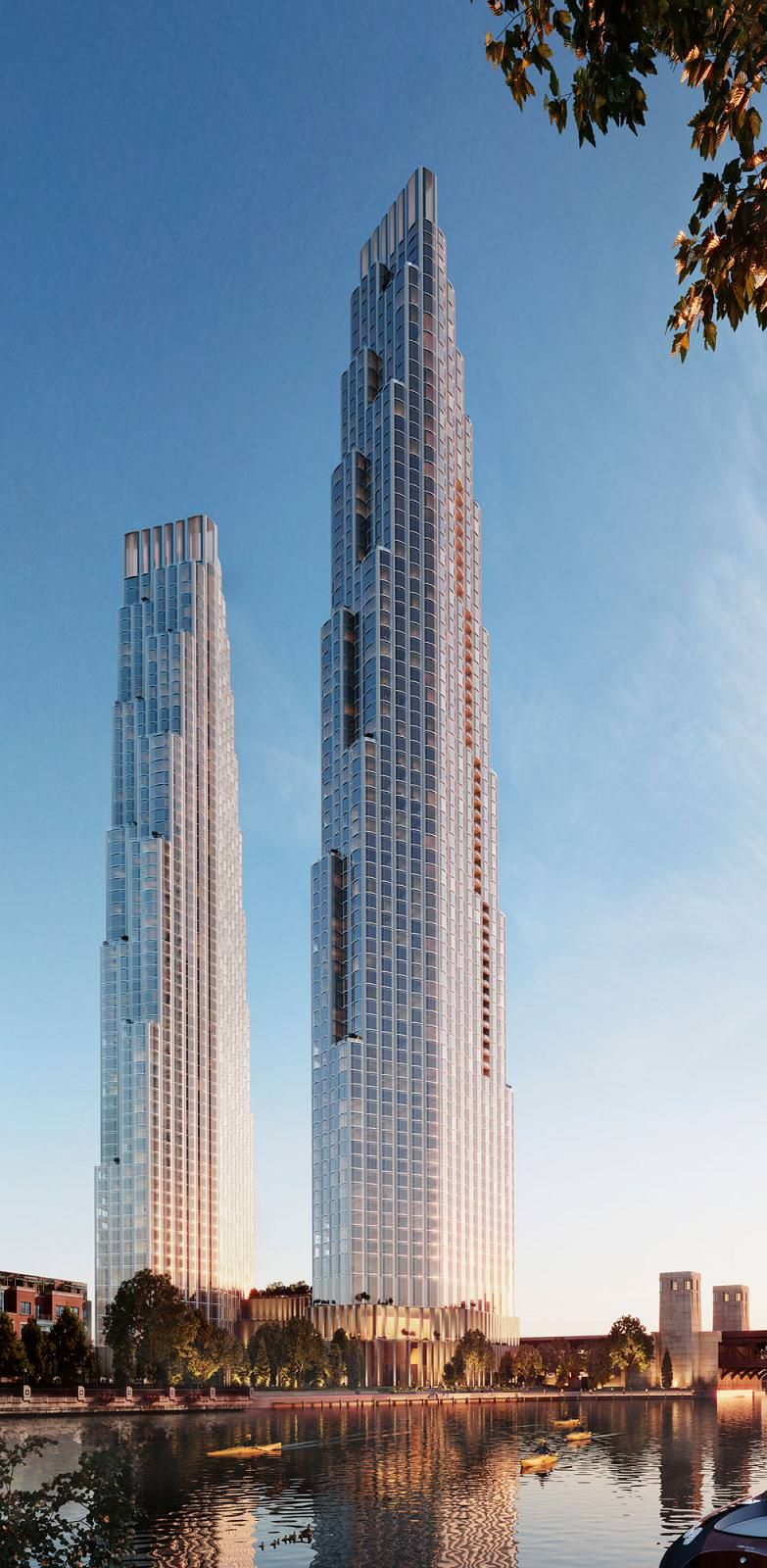 Chicago 400 Lake Shore Drive 1 100 Ft 850 Ft 76 65 Floors Skyscraperpage Forum Skyscraper Architecture Beautiful Buildings Future Buildings