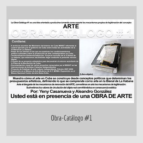 OBRA CATÁLOGO-1. YENY CASANUEVA Y ALEJANDRO GONZÁLEZ. PROYECTO PROCESUAL ART