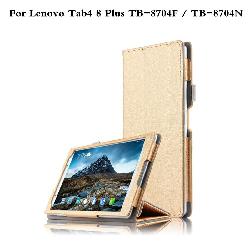 Luxury Case For Lenovo Tab4 8 Plus 8 0 Inch Tablet Tb 8704f Tb 8704n 2017 Release Folio Cover Slim Protective Skin Cases Tablet Accessories Skin Case Accessories Luxury