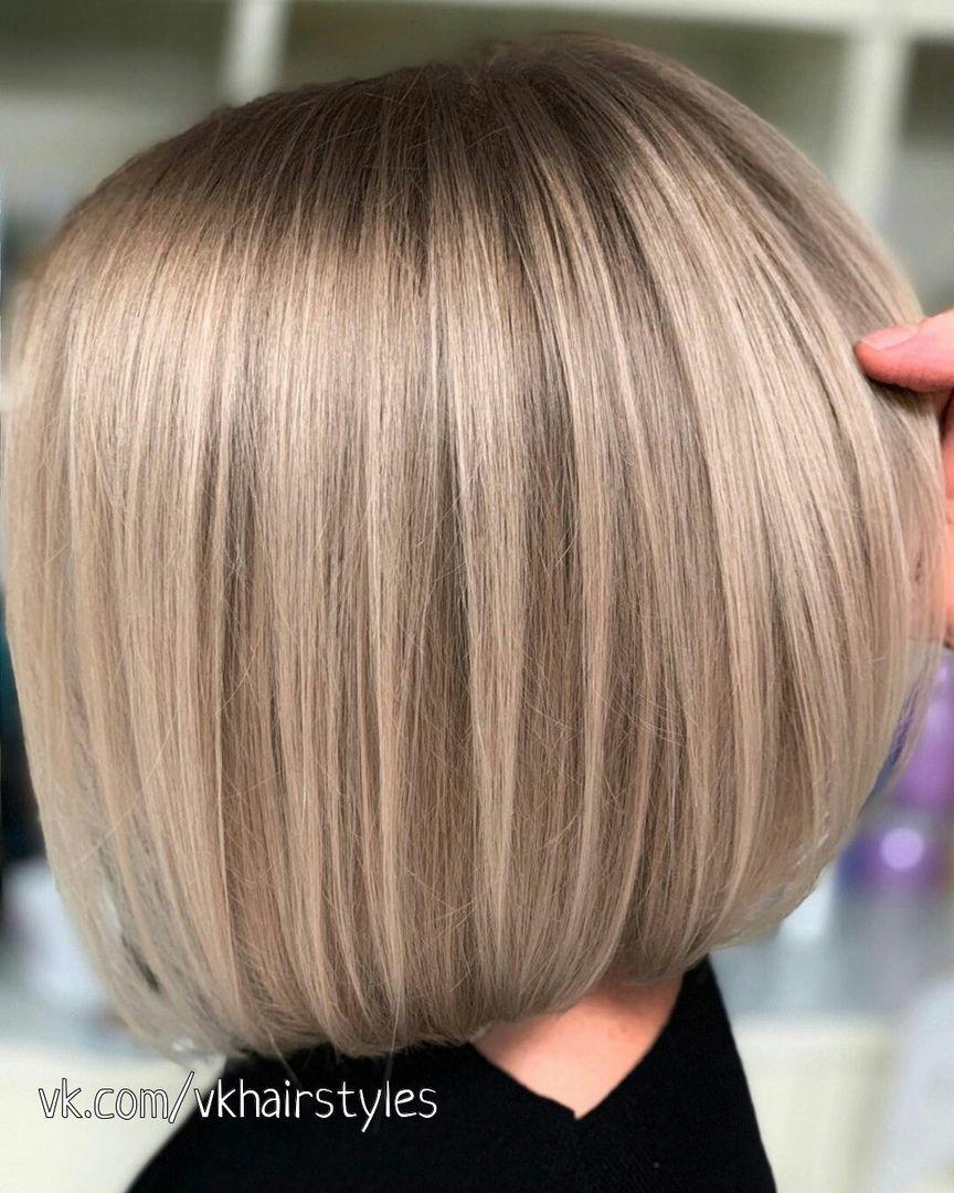 Модные стрижки тонких волос до плеч