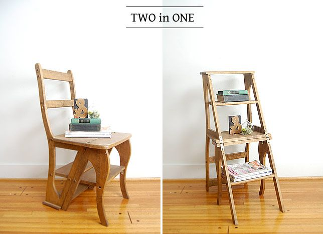 Wow Totally Need This Two In One Chair Ladder For The
