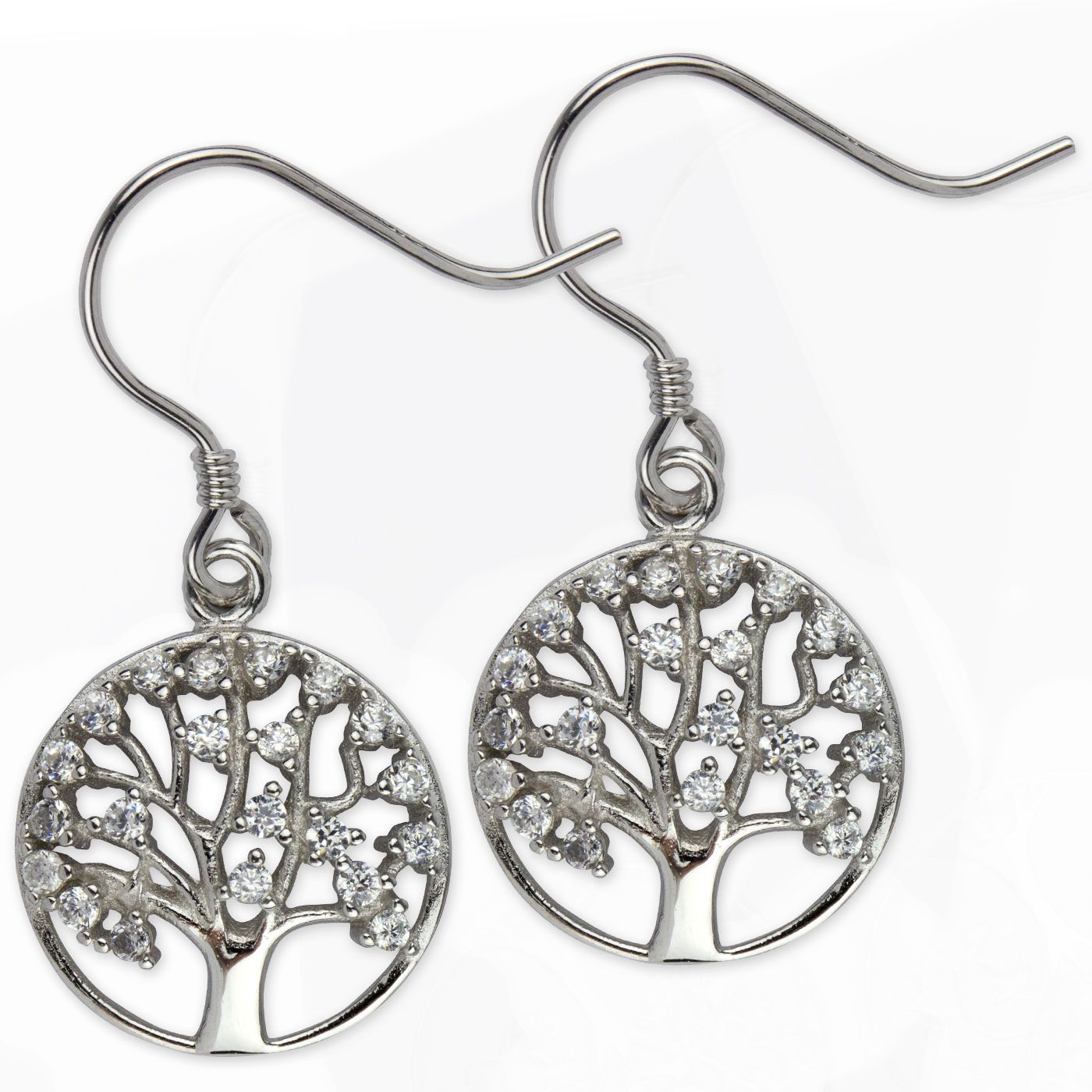 1 Paar Ohrhänger Ohrringe Baum Des Lebens Lebensbaum Aus 925er Indianerschmuck Folkloreschmuck