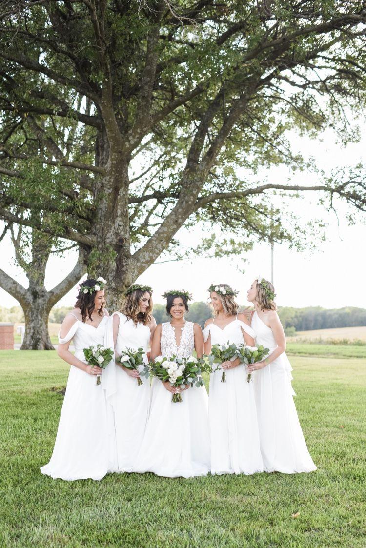 Beautiful bridesmaids. The Journey Home wedding venue near