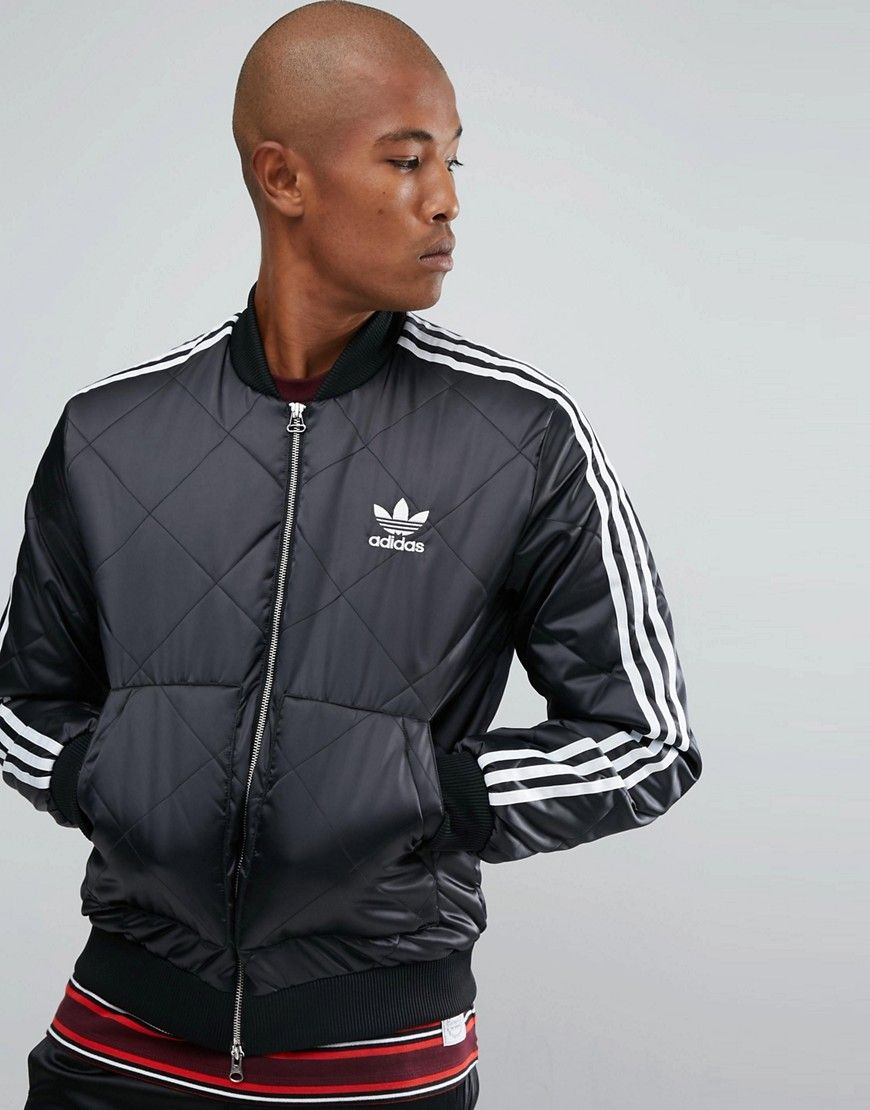 ADIDAS ORIGINALS SUPERSTAR QUILTED JACKET IN BLACK BS3020
