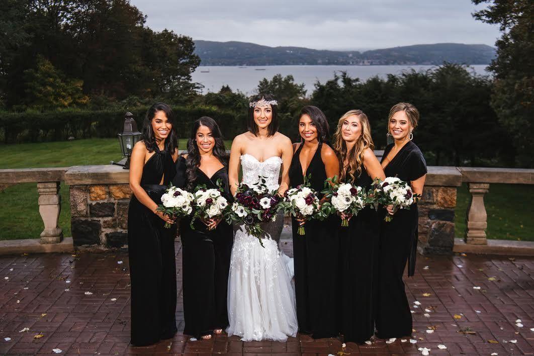 Black Velvet Jumpsuit - Black Velvet / A / N/A #bridesmaidjumpsuits
