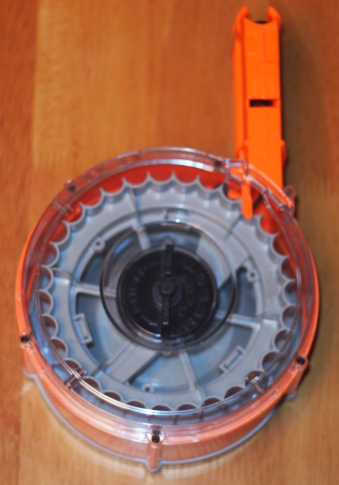 5 of 9 Nerf Gun Raider Cs-35 N-Strike Rapid Fire Blasting Drum Magazine  Over 20