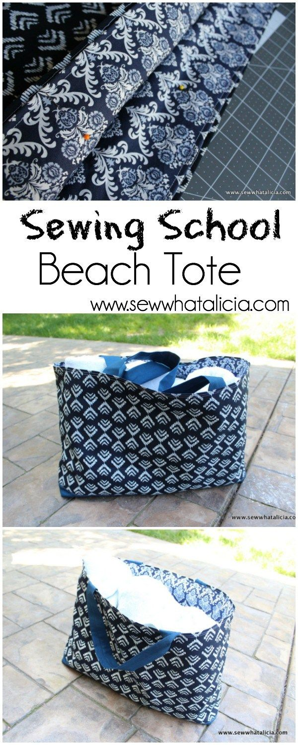 Beach Tote – École de couture   – sewing and dress ideas
