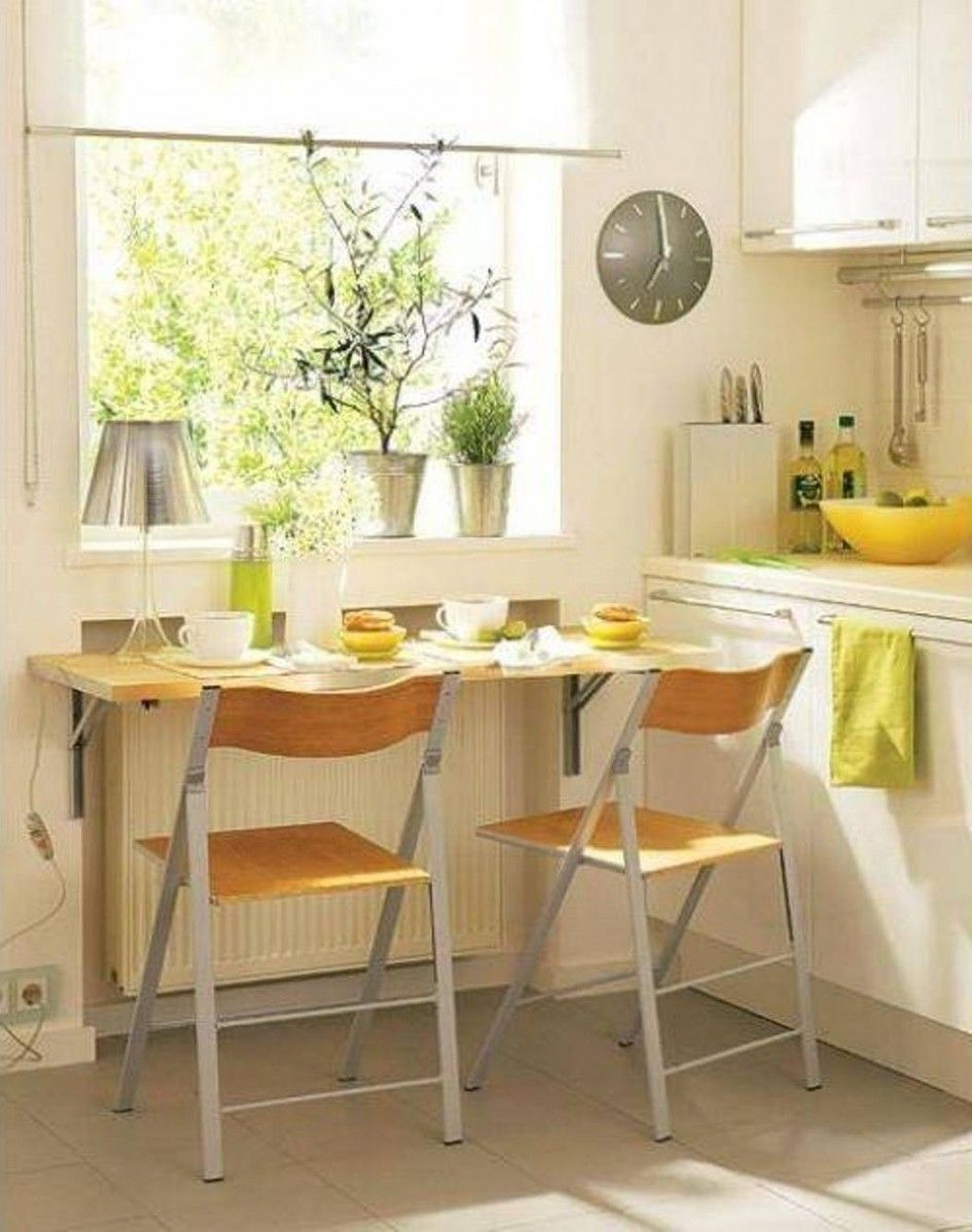 Marvelous Wall Mount Bar Table for Small Kitchen Space Design with ...