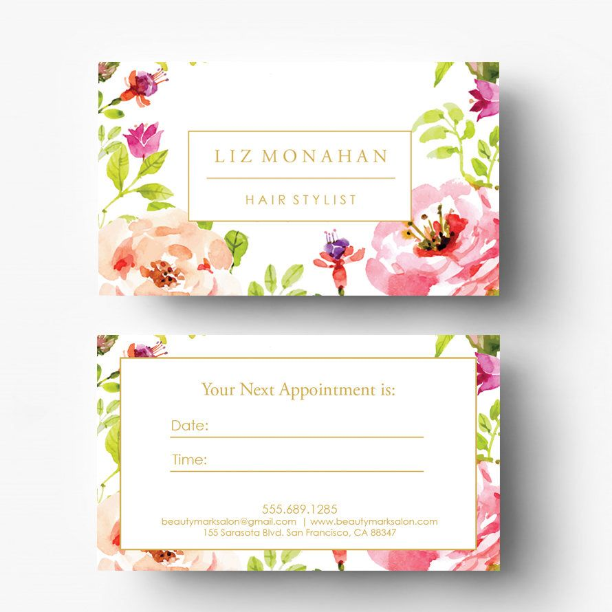 Pre-made Appointment Card Design - Salon Appointment Card - Spa ...