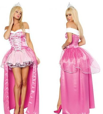 New Pink Fairy Tail Snow White Cosplay Costumes Fancy dress, alice in wonderland halloween costume,victorian Evening Dress $32.59 - 34.59