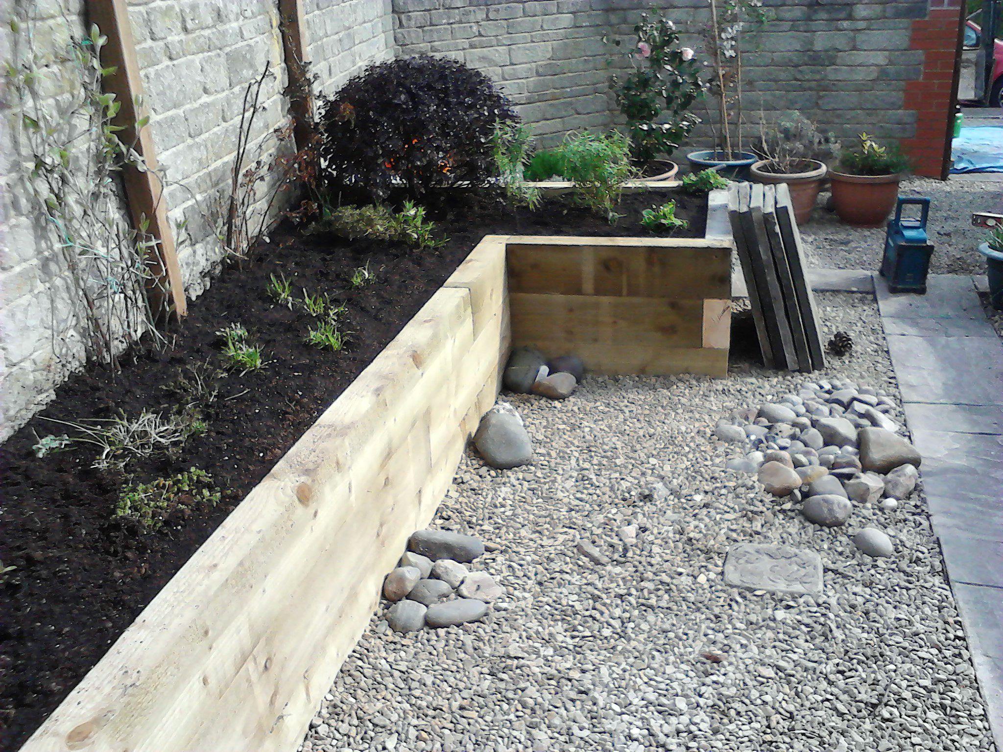 garden sleepers - Google Search   Garden landscaping ...