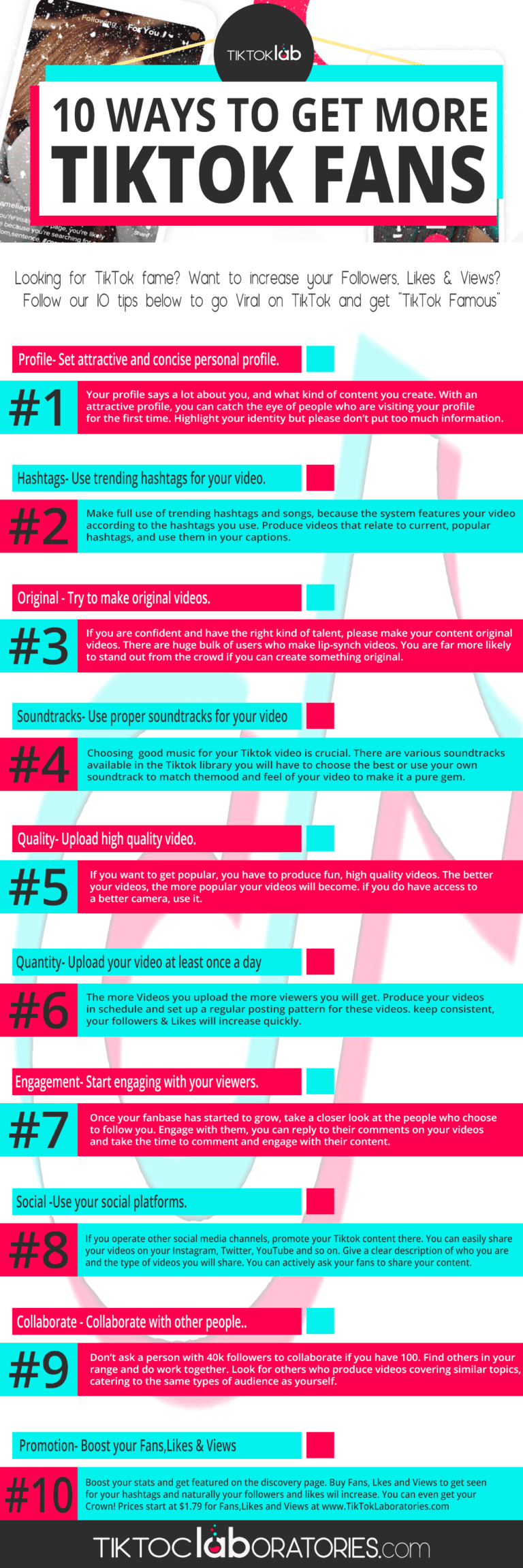 Looking To Become More Famous And Increase Your Influencer On Tiktok Check Out These Gr Social Media Infographic How To Get Famous Social Media Marketing Blog
