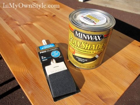 Minwax Polyshades Black Stain Tutorial I Spy A Diy Pinterest