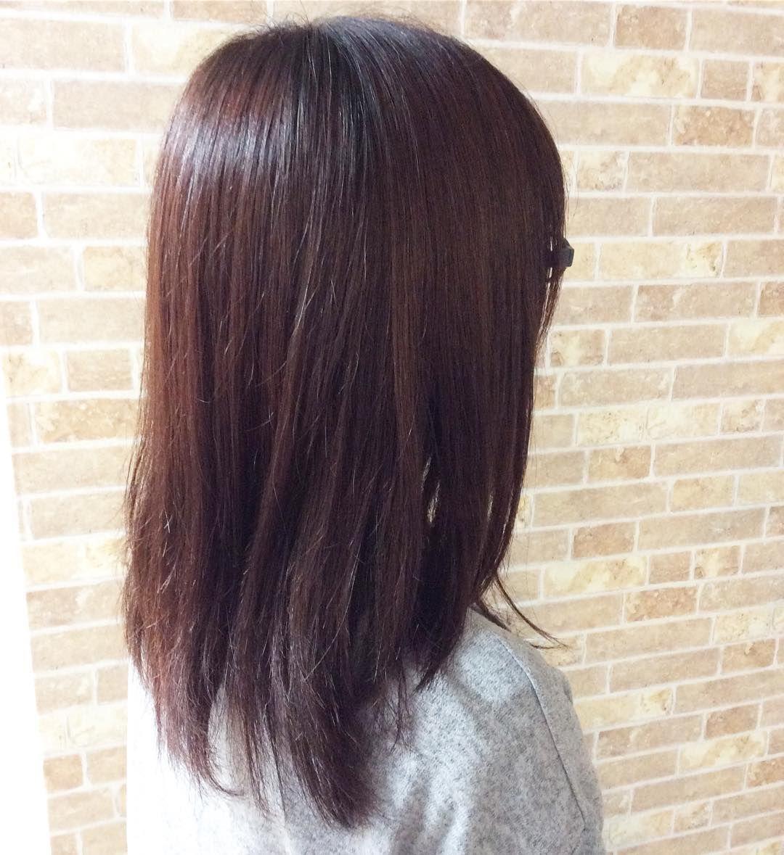 本日のお客様 明るく色落ちしていたヘアに ピンクブラウンを入れて