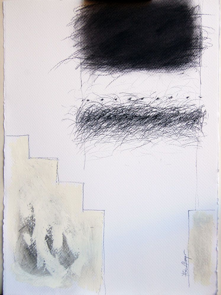 "YOel Almaguer. Serie ""Muros"" VI, Conté-grafito/ cartulina. 50cm x 65cm. 2010"