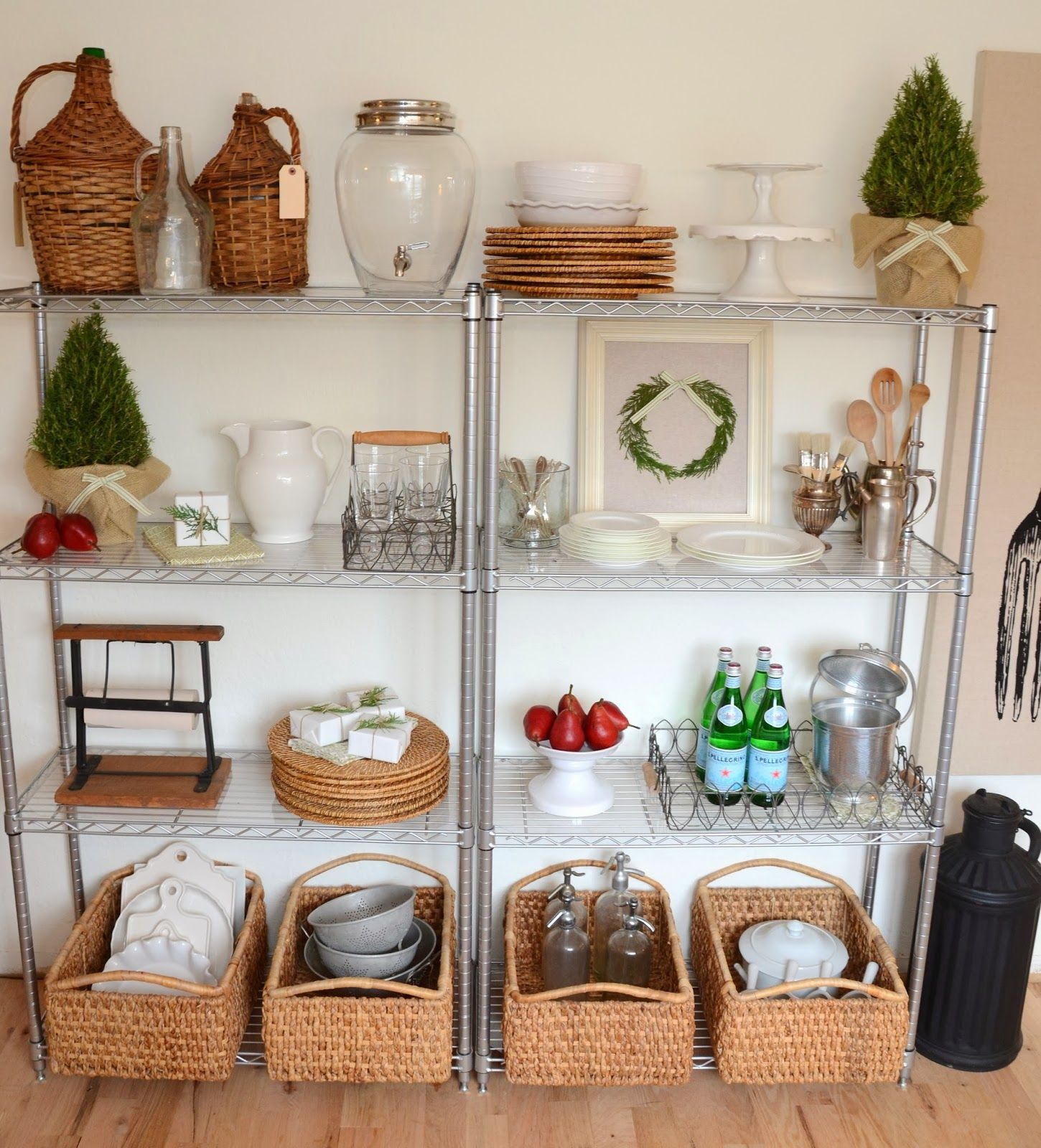 I LOVE our metro shelving in our kitchen! Well, truth be told ...