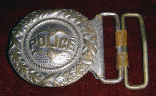 Circa 1890s Police Belt Buckle No Longer Available Belt Buckles Police Military Belt