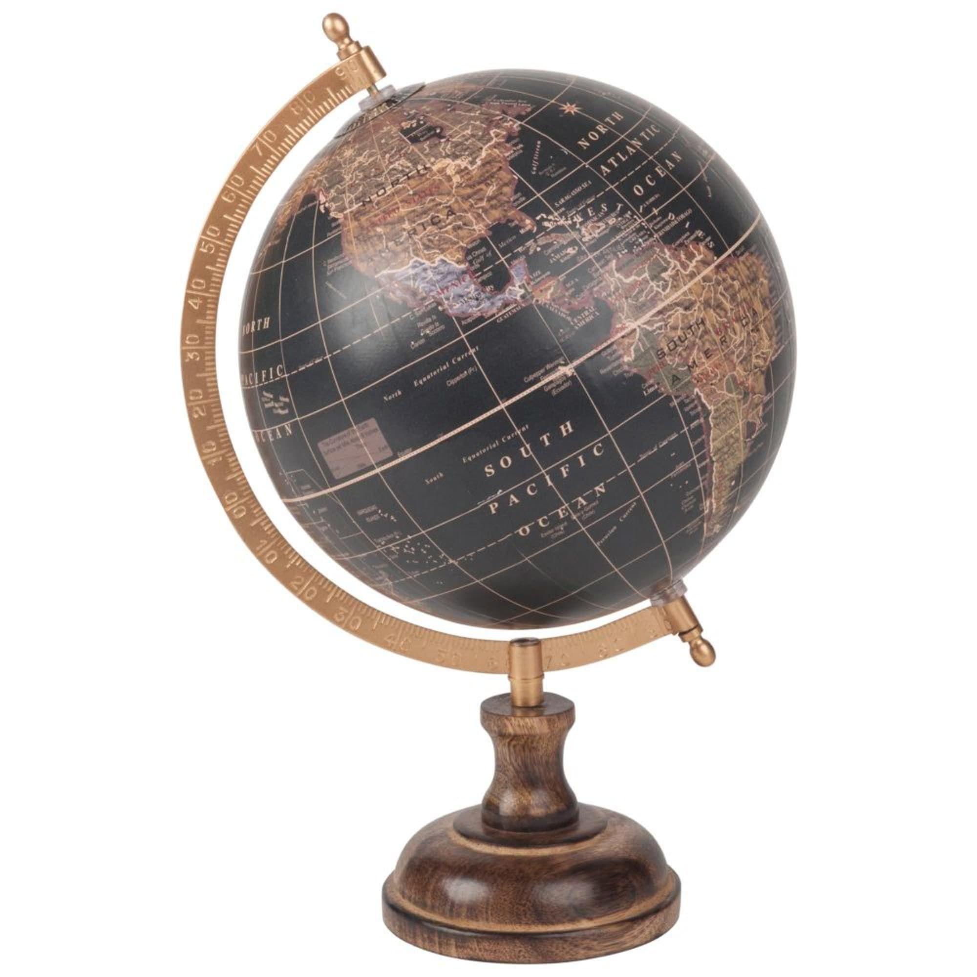 Globe Terrestre Carte Du Monde En Manguier Noir Maisons Du Monde Globe Terrestre Globe Maison Du Monde Carte Du Monde