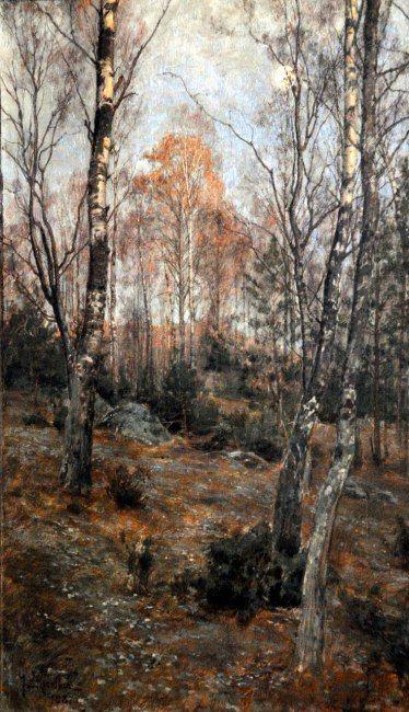 Forest Landscape - Johan Krouthén - 1887