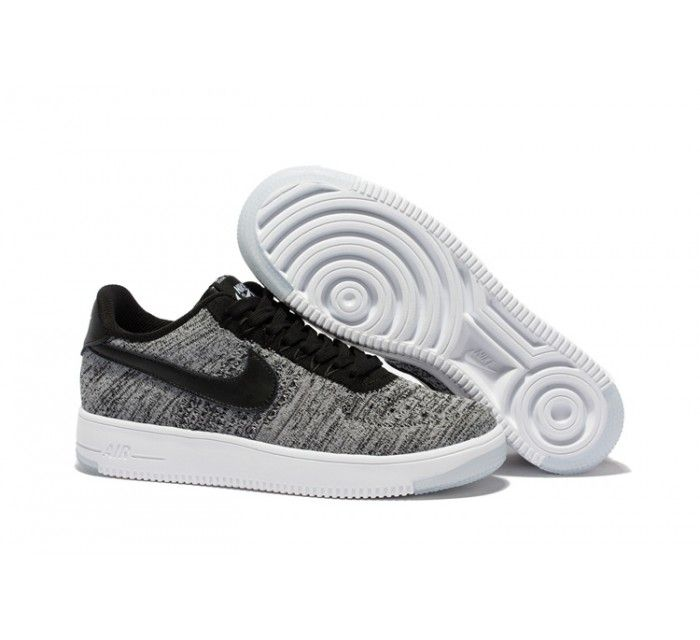 Nike Air Force 1 Flyknit Low Men's - Gray/Black