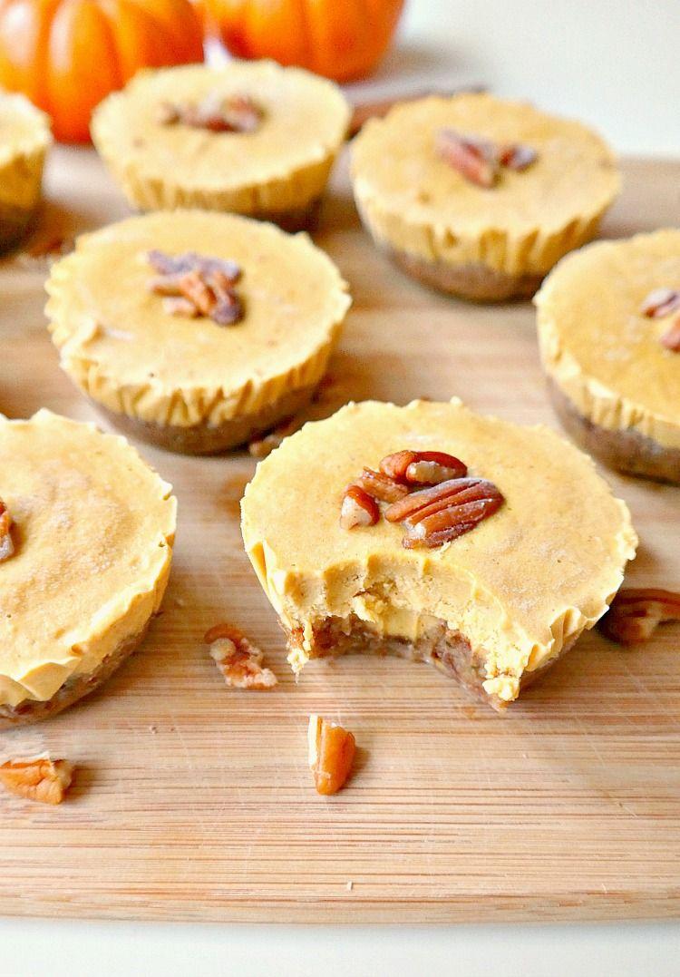 Mini Vegan Pumpkin Pie Cheesecakes Recipe Vegan Fall Dessert Pumpkin Pie Cheesecake Vegan Fall Dessert Recipes