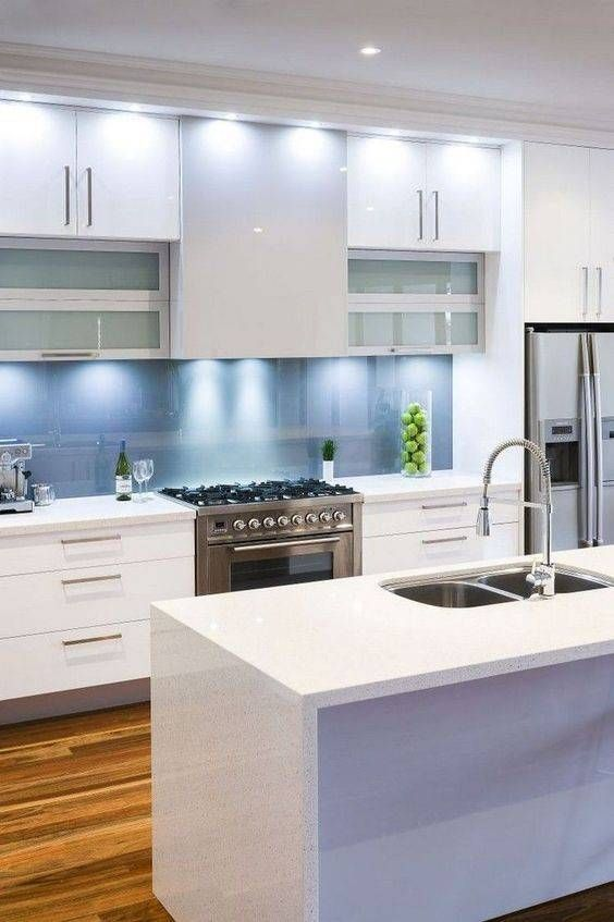decoración de cocina blanca sencilla Casa Pinterest Cocina - Cocinas Integrales Blancas