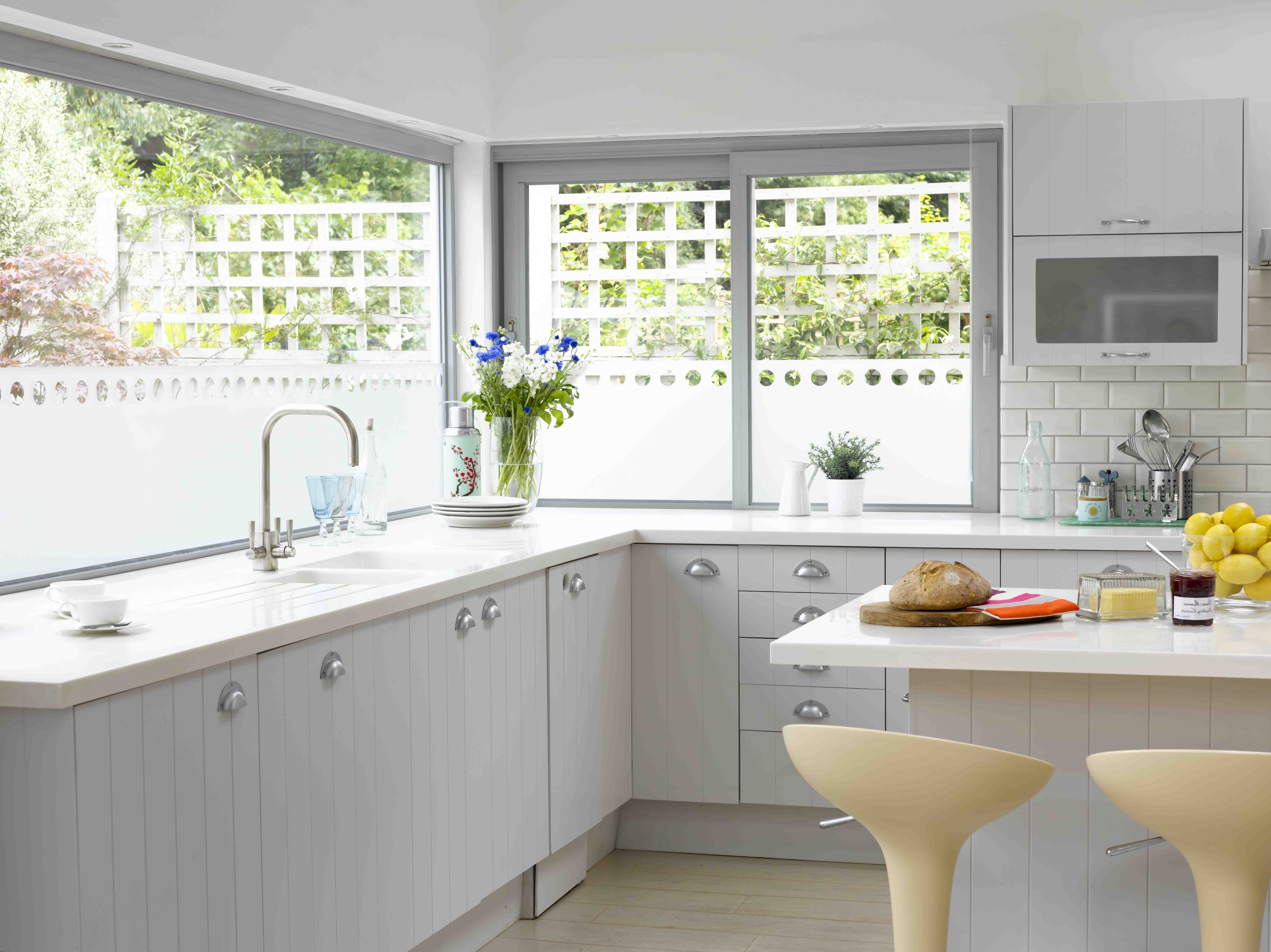 Marvelous Brown Wooden Trim Kitchen Window Ideas Added ...