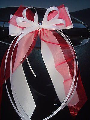 2-luxuriose-Autoschleifen-Antennenschleifen-Hochzeit-weiSs-rot.jpg (300×400)