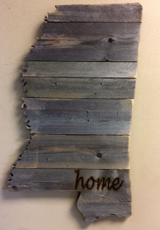 Mississippi Wood Sign Engraving Option 12 5 X Etsy Wood Signs Rustic Wood Signs Old Fence Wood