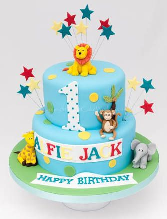 Image result for kids animal birthday cake Birthday Pinterest