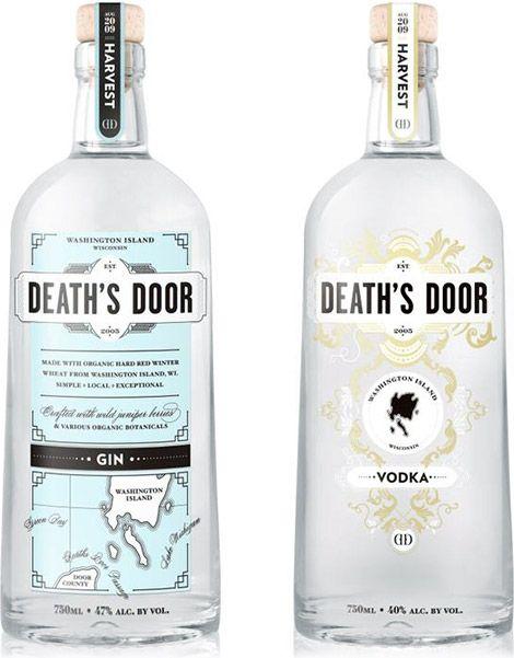 Deaths Door Spirits  sc 1 st  Pinterest & Deaths Door Spirits | Branding u0026 Packaging | Pinterest | Beverage ...