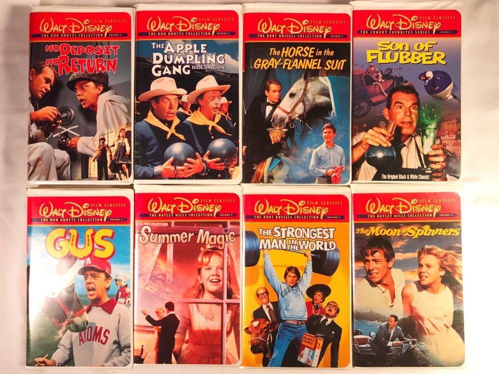 Lot Of 8 Walt Disney Film Classics Vhs Don Knotts Kurt Russell Haley