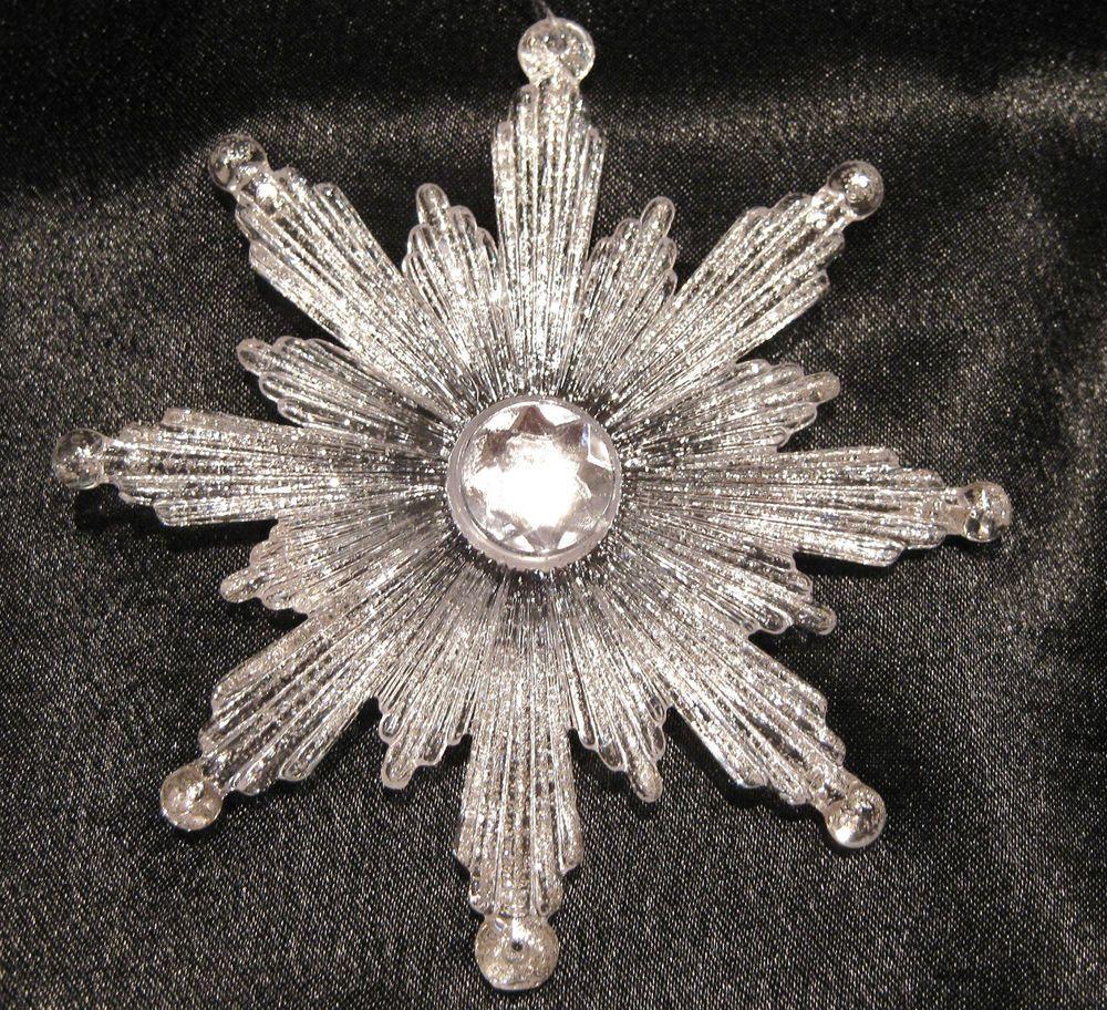 Christbaumschmuck Schneeflocke Eiskristall Mit Strass Ca 9cm