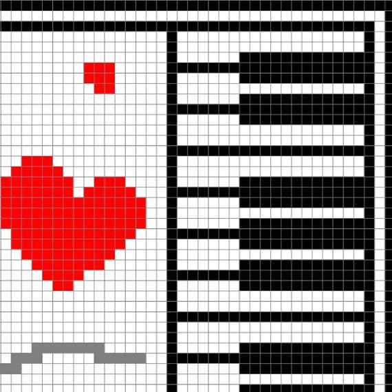 INSTANT DOWNLOAD Love Music Crochet Graph Crochet | crochet
