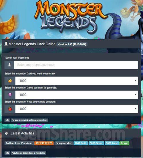 monster legends hack gems 99999 no download