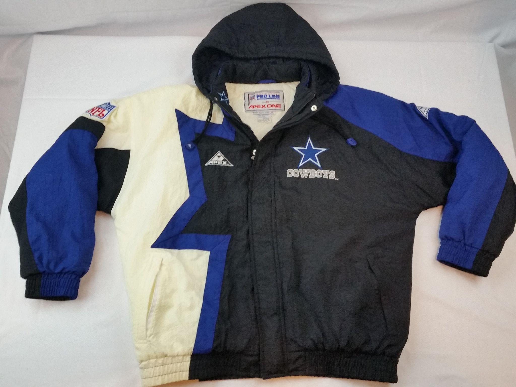 sports shoes 7396b d6bfe Dallas Cowboys Apex Jacket Vintage NFL Pro Line Coat Parka ...