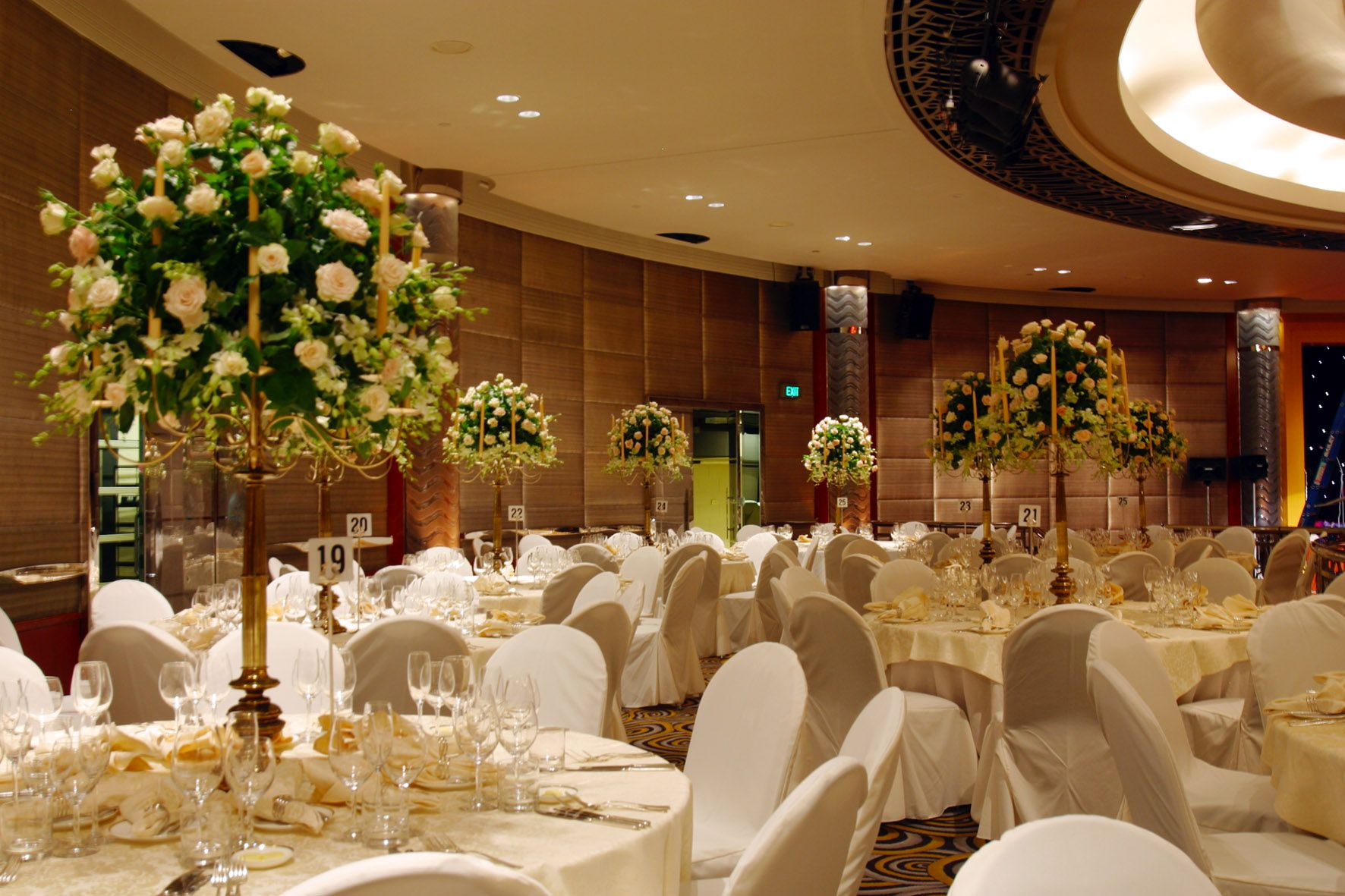White Roses in our Ballroom- Park Hyatt Melbourne - Wedding Venue