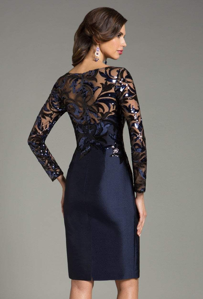 Feriani Couture - 18474 Sequined Sheer Short Dress