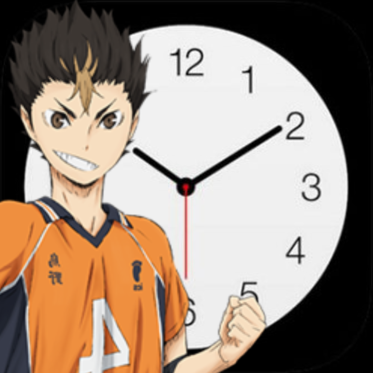 nishinoya clock app icon in 2020 Ios app icon, App icon